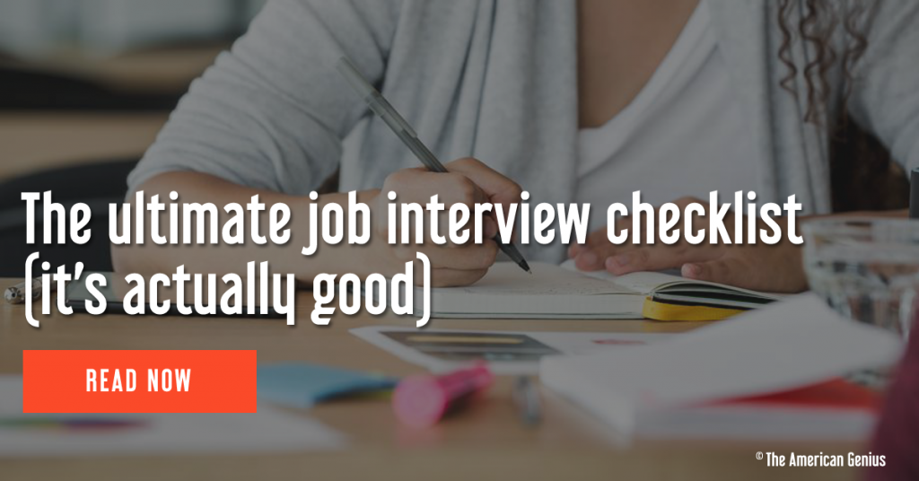 The ultimate job interview checklist