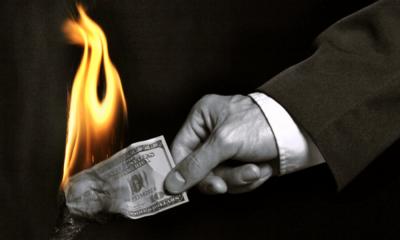 money fire