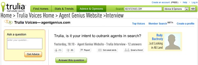 rudy bachraty of trulia.com interviewed by benn rosales of agentgenius.com