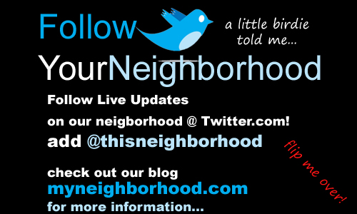 neighborhood blog business cards