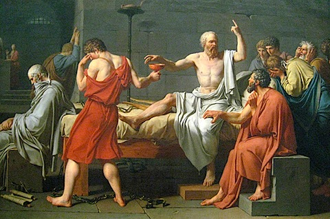 The Death of Socrates, Jacques-Louis David (1787)