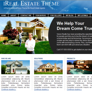 realestatewordpress itheme 300x300 Real Estate Wordpress Themes  Premium Themes You Should See