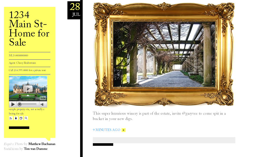 theme 3 Using Tumblr.com as a Single Property Website