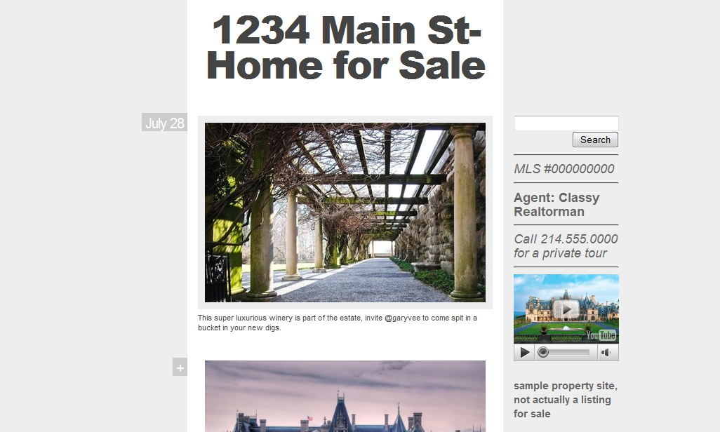 theme 7 Using Tumblr.com as a Single Property Website