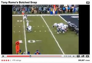 Tony Romo Flubbed Snap