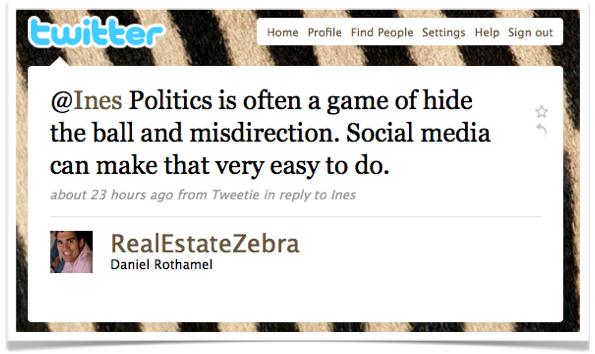 Real Estate Zebra on Politics
