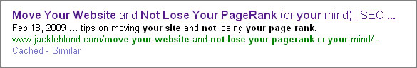 move page not lose page rank long title