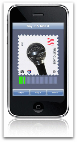 Say It Mail It iPhone App - Super Cool and Simple