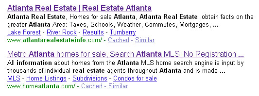 atlanta real estate info serp