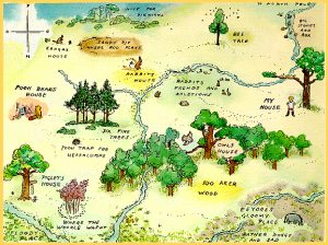 Hundred Acre Wood Map  (AKA Chritopher Robin's site map)