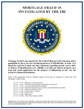 FBI investigates mortgage fraud