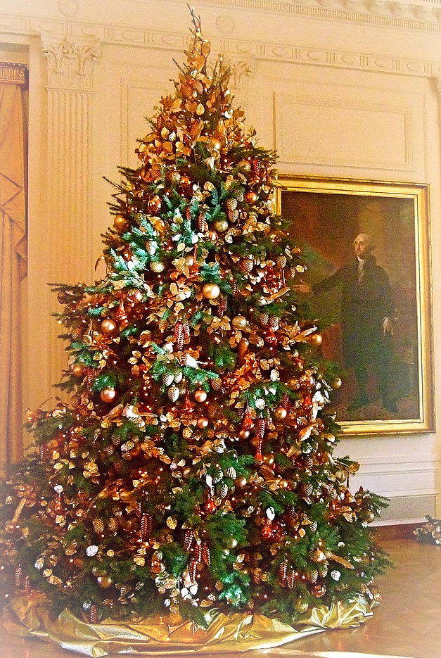 Christmas Tree in E Reception Area White House