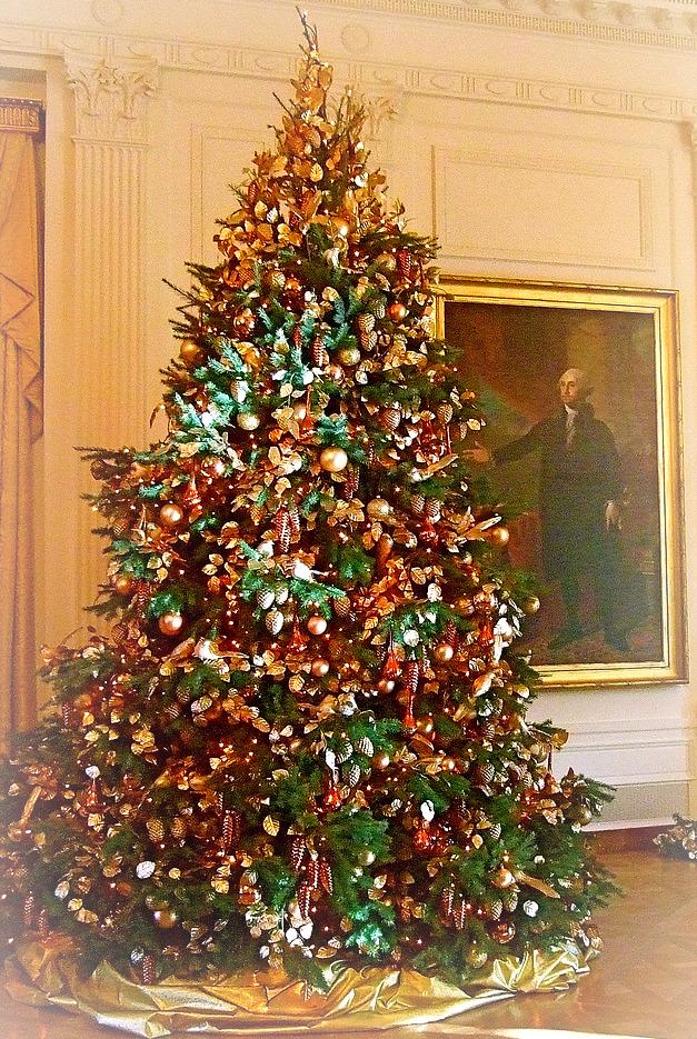 Christmas Tree in E Reception Area White House