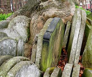 realtor logo on gravestones