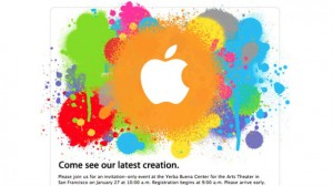 apple event unveiling tablet