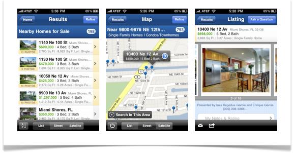 Realtor.com iPhone app screenshot