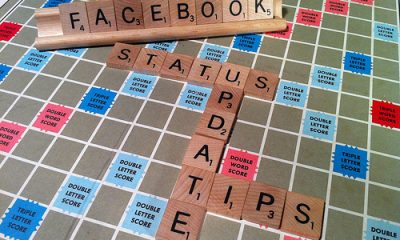 facebook status update tricks out of scrabble letters
