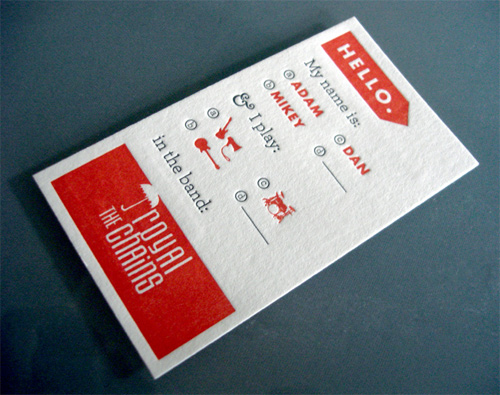 20 inspiring business card designs time to revamp yours for Band business card ideas