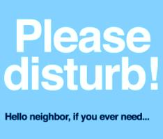 doorknob hangers Realtors as catalysts for reviving the neighborhood