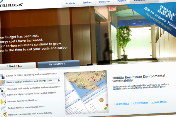 tririga ibm Real estate software company acquired by IBM, their first spend of the year