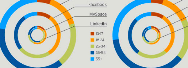 social demographics online infographic Social networking demographics broken down by profile data   infographic