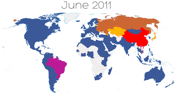 facebook June 2011 Facebooks global expansion accelerating rapidly   infographic