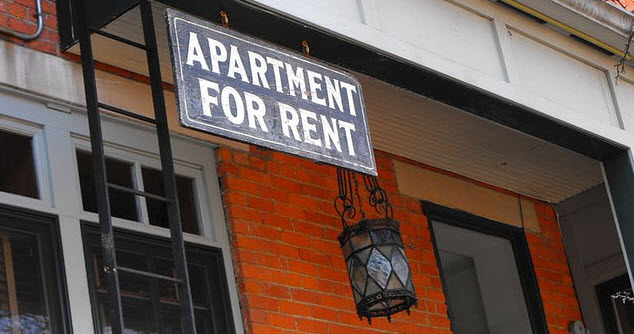apartment for rent sign American rental house pricing is currently erratic at best