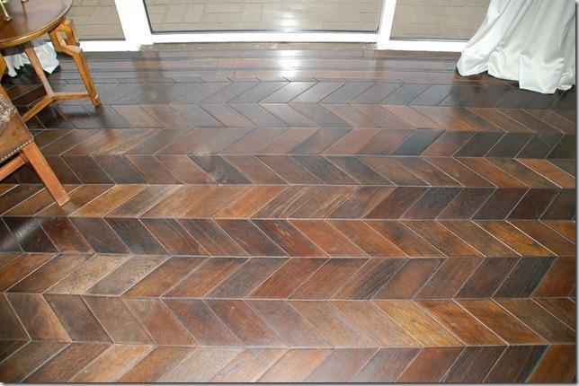 Interior design trend spotting chevron prints everywhere Chevron wood floor