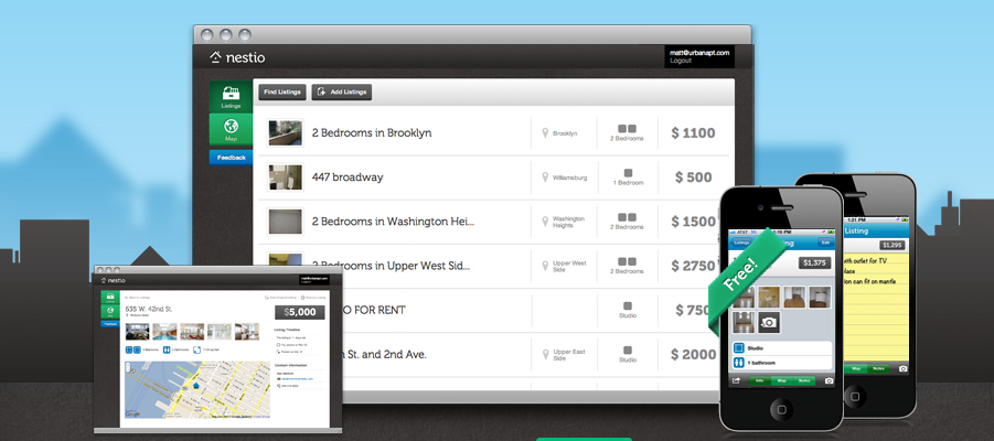 nestio landing page Real estate bookmarking site Nestio raises $750k in seed funding