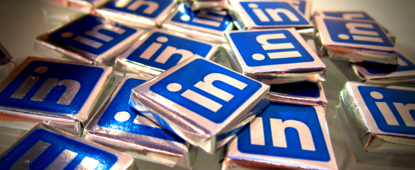 Linkedin Chocolates LinkedIn has grown 61% in the last year, revenues up 120%