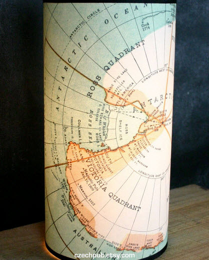 antarctica vintage lampshade Interior design trend spotting   quirky, vintage inspired lamp shades
