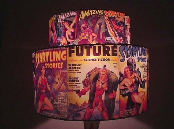 comic book vintage lampshade Interior design trend spotting   quirky, vintage inspired lamp shades