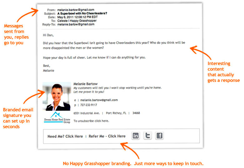 real estate email marketing campaigns written for you tech tool