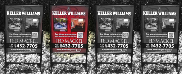 keller williams sign Evolution of a California Realtors custom signs   now using QR codes