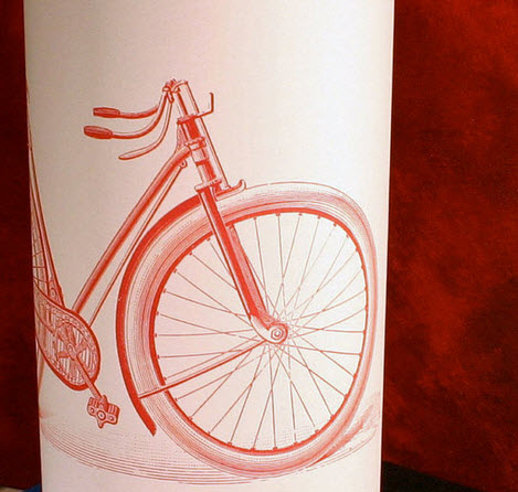 red vintage bicycle lampshade Interior design trend spotting   quirky, vintage inspired lamp shades