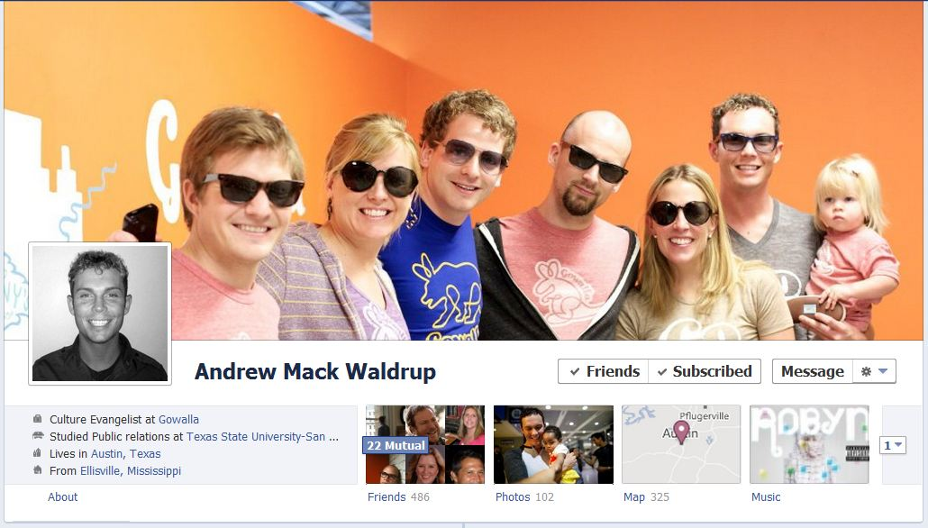andrew facebook1 50 Facebook timeline covers   examples and best practices