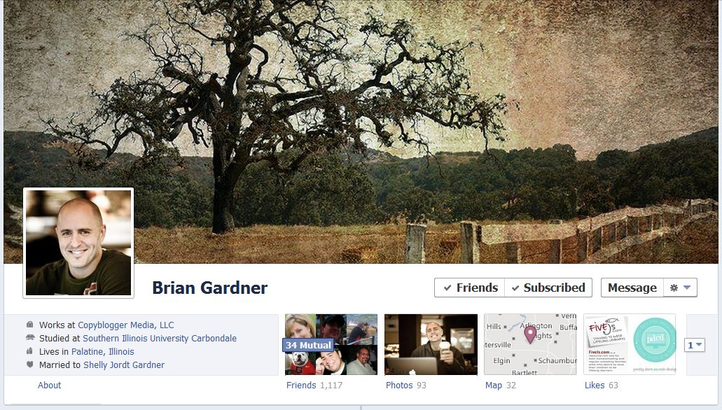 brian facebook 50 Facebook timeline covers   examples and best practices