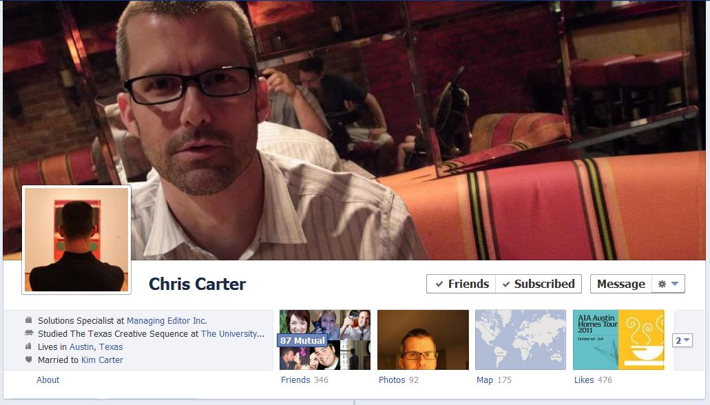 chris facebook 50 Facebook timeline covers   examples and best practices
