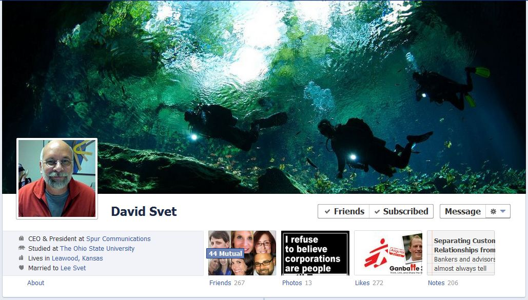david facebook 50 Facebook timeline covers   examples and best practices