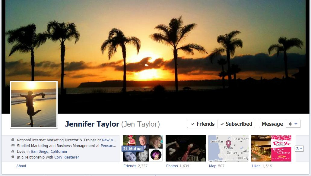 jen facebook 50 Facebook timeline covers   examples and best practices