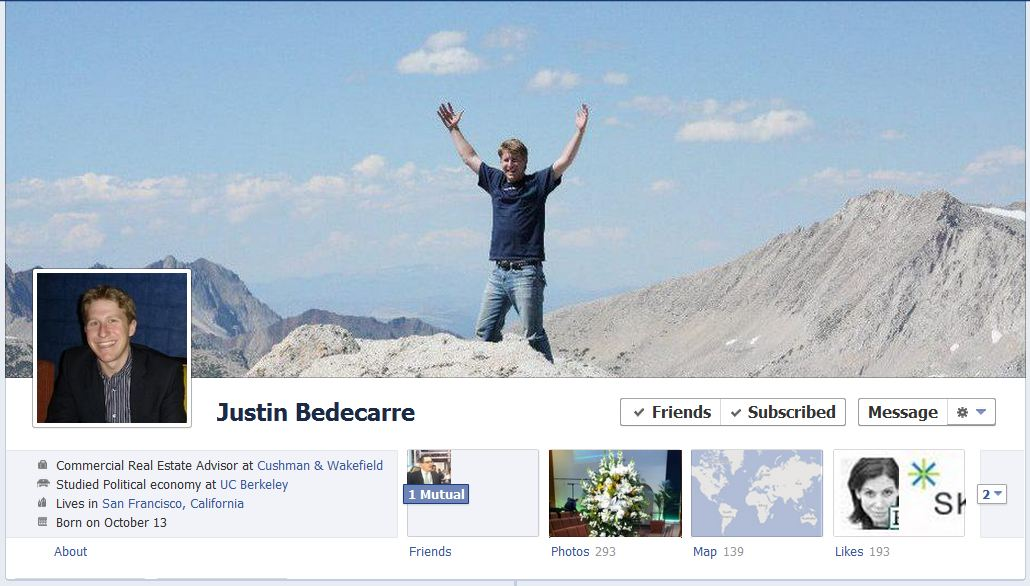 justin facebook 50 Facebook timeline covers   examples and best practices