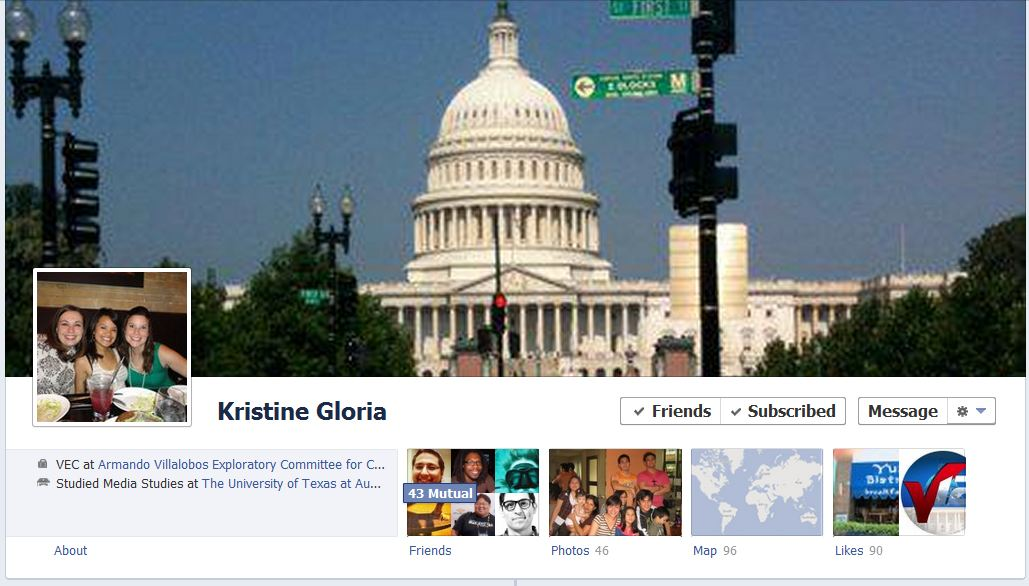 kristine facebook 50 Facebook timeline covers   examples and best practices
