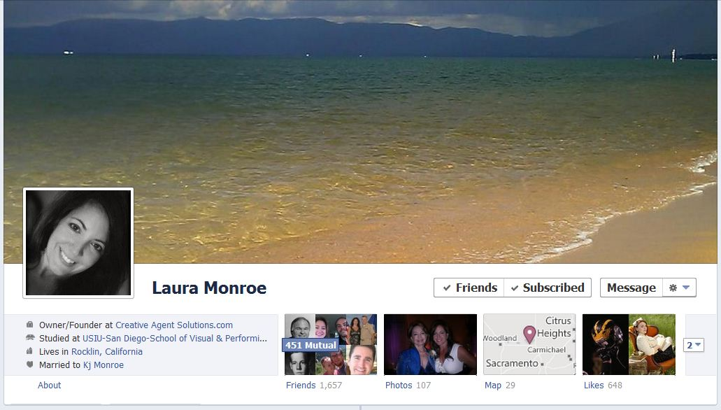 laura facebook 50 Facebook timeline covers   examples and best practices