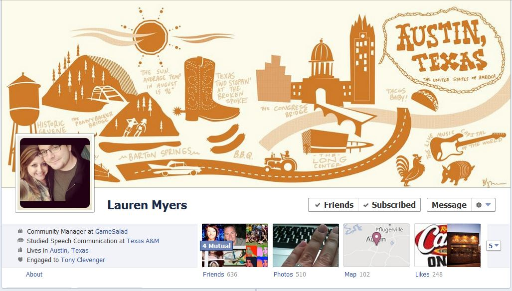 lauren facebook 50 Facebook timeline covers   examples and best practices