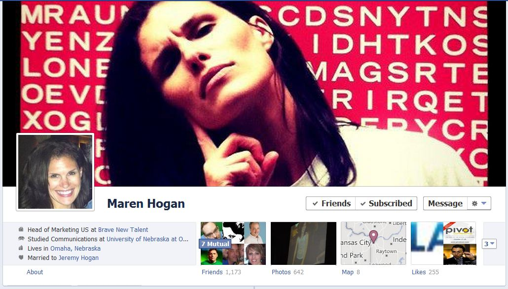 maren facebook 50 Facebook timeline covers   examples and best practices