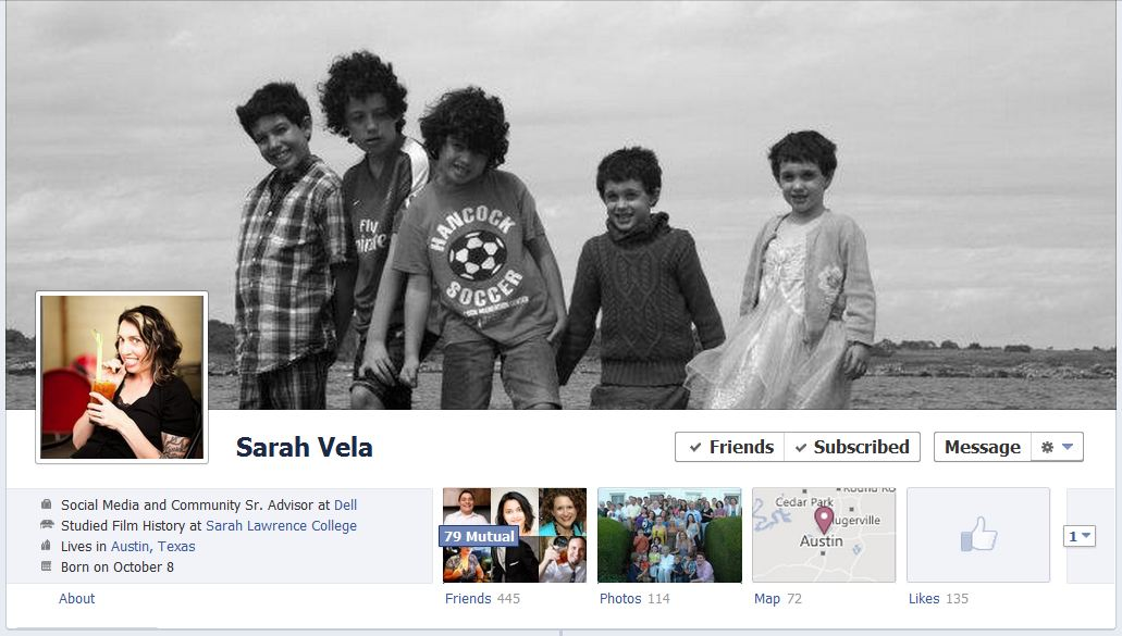 sarah facebook 50 Facebook timeline covers   examples and best practices