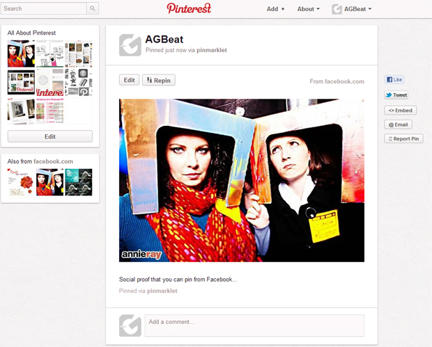 yes we can Pinterest tip on how to pin photos from Facebook