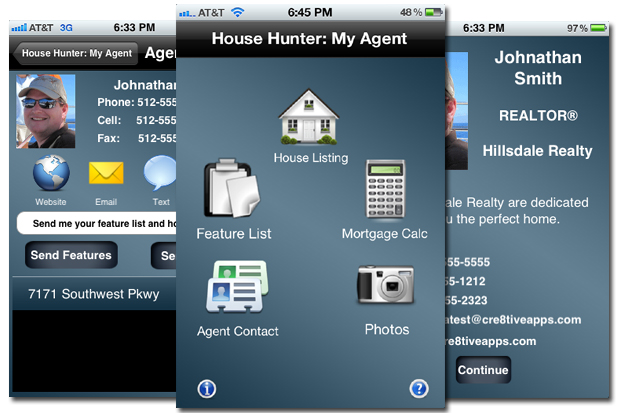 House hunter iphone app adds lead generation tool for for Home building apps for iphone