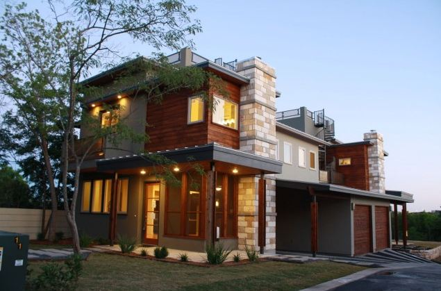 This modular home built in the Hill Country of Texas by Nick Mehl  Architecture shows how beautiful modular can be.