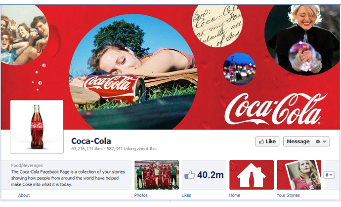 16 40 brands using Timeline Cover Photos on Facebook Pages